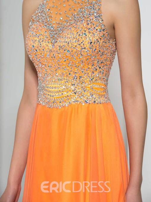 Ericdress Jewel Neck Beading Sequins Prom Dress