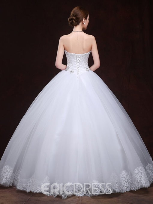 Ericdress Beading Appliques Lace Ball Gown Wedding Dress