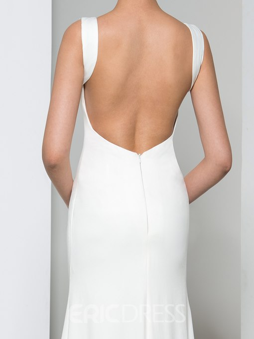 Ericdress Sheath Backless Sweep Train Evening Dress