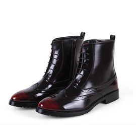 Ericdress Mic Calf Brogue Men's Martin Boots