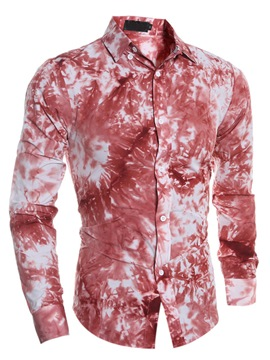 Ericdress Unique Printed Long Sleeve Men's Shirt