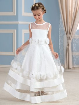 Ericdress Cute Jewel Flowers A Line Flower Girl Dress