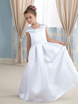 Ericdress Cute Cap Sleeves Beadings Flower Girl Dress