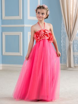 Ericdress Beautiful Halter Empire Flower Girl Dress