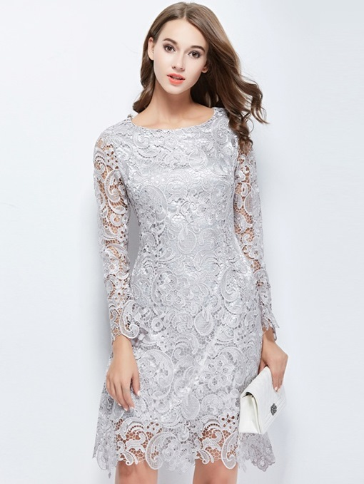 Ericdress Knee-Length Sheath Lace Cocktail Dress