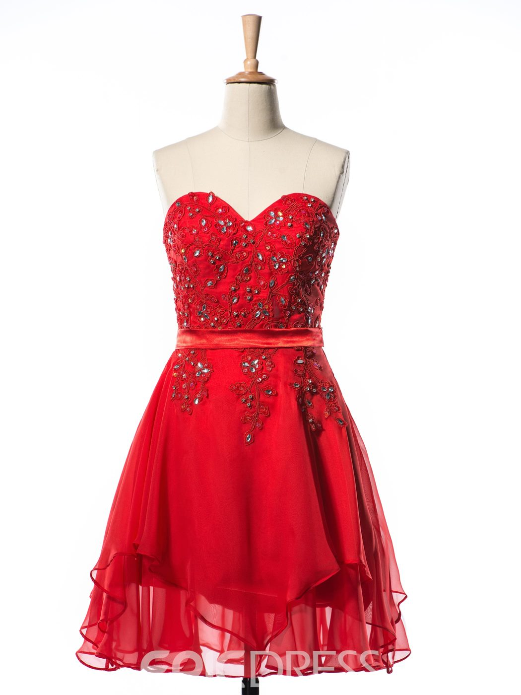 Ericdress A-Line Sweetheart Appliques Beading Short Homecoming Dress