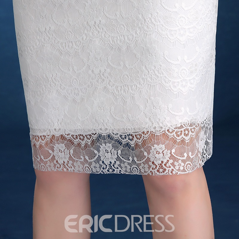 Ericdress Sheath Flowers Knee-Length Cocktail Dress