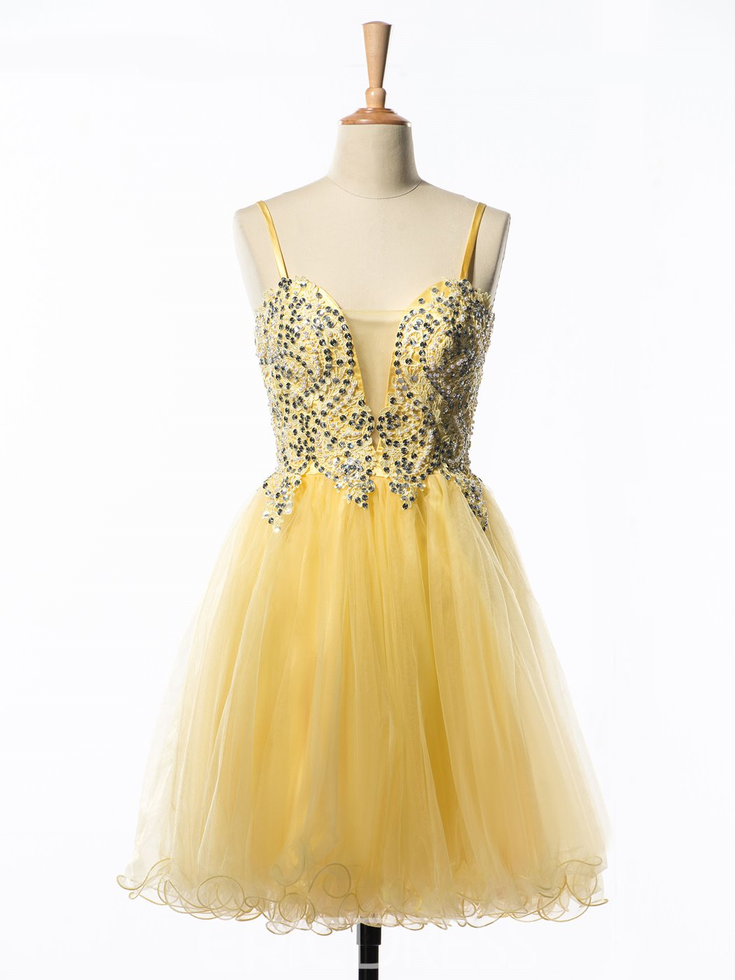 Ericdress Spaghetti Straps A-Line Sequins Short Homecoming Dress
