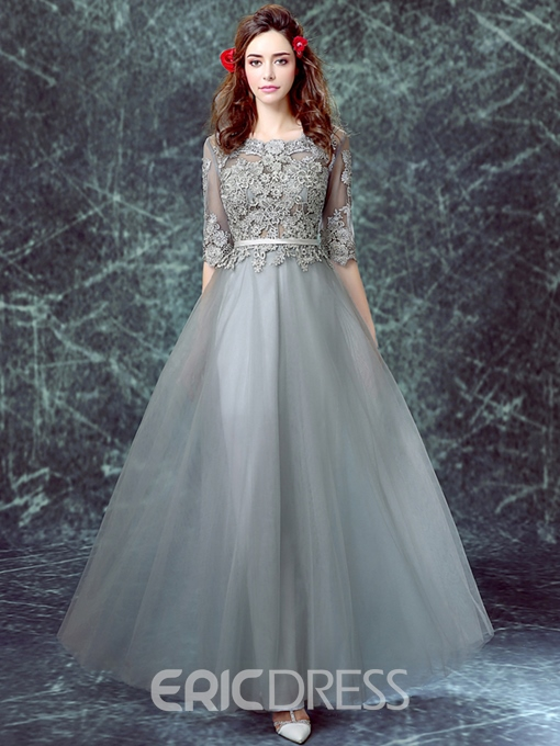 Ericdress A-Line Half Sleeve Appliques Evening Dress