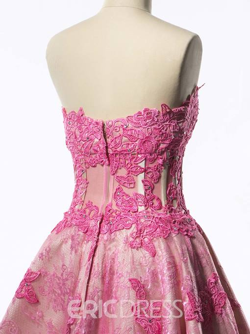 Ericdress Strapless Corset Appliques Short Homecoming Dress