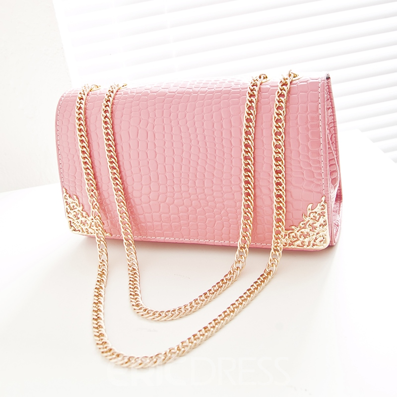Sweet Flowers Printing Chain Shoulder Bag for Women
