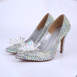 Ericdress Sliver Crystal Wedding Shoes