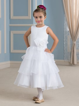 Ericdress Simple Tea Length Flower Girl Dress