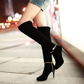 Ericdress Point Toe Knee High Boots