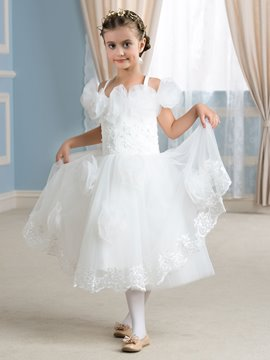 Ericdress Beautiful Off The Shoulder Tea Length Flower Girl Dress