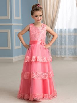 Ericdress Charming A line Flower Girl Party Dress
