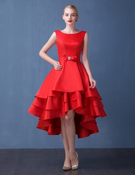 Ericdress une ligne asymétrique longueur Bowknot Cocktail Party Dress