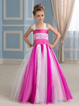Ericdress High Quality Straps A Line Flower Girl Dress