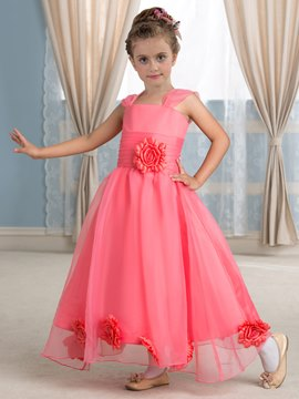 Ericdress Beautiful Straps Ankle Length Flower Girl Dress