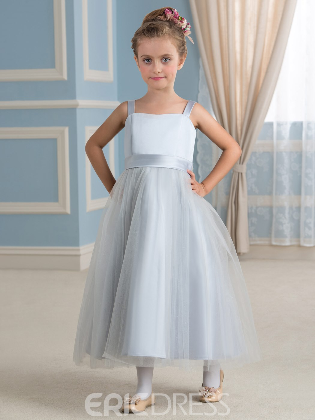 Ericdress High Quality A Line Tulle Flower Girl Dress