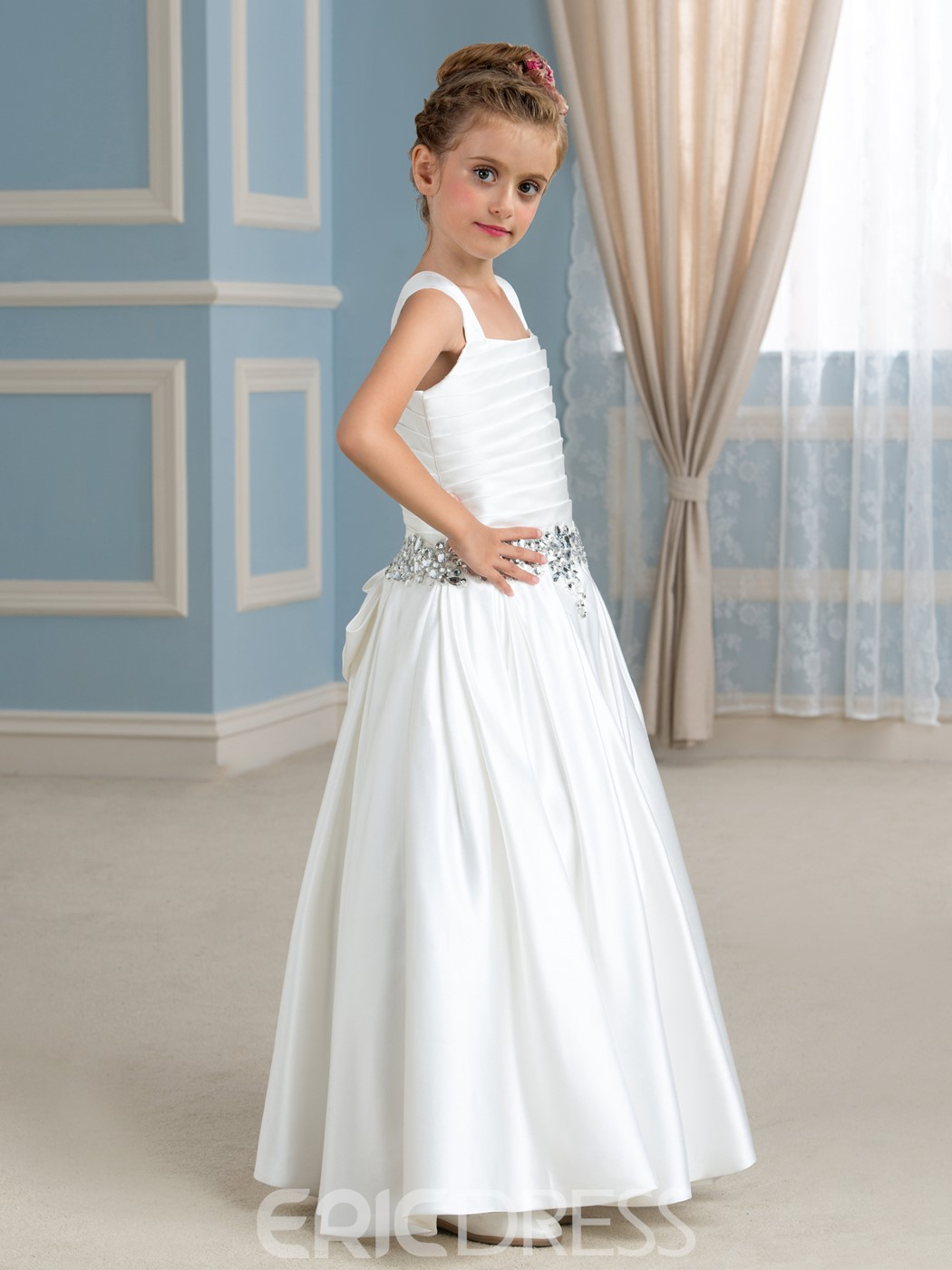 Ericdress Casual Straps Floor Length Flower Girl Dress