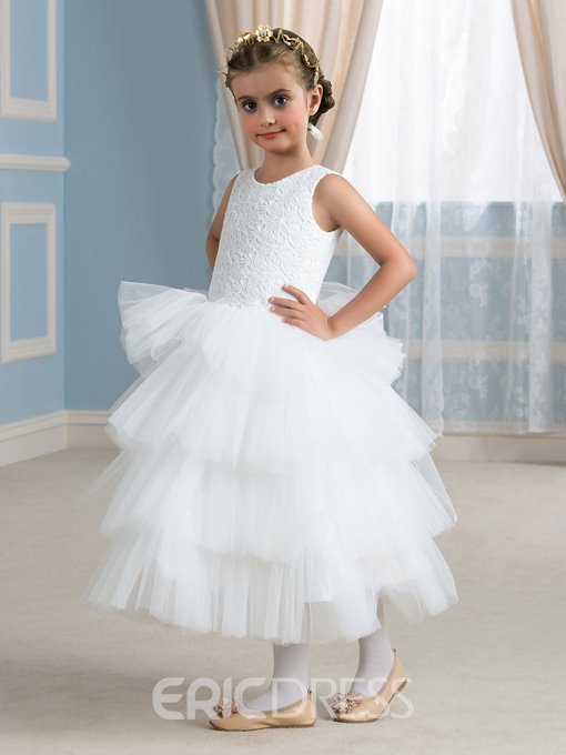 Ericdress Comfortable Jewel A Line Flower Girl Dress