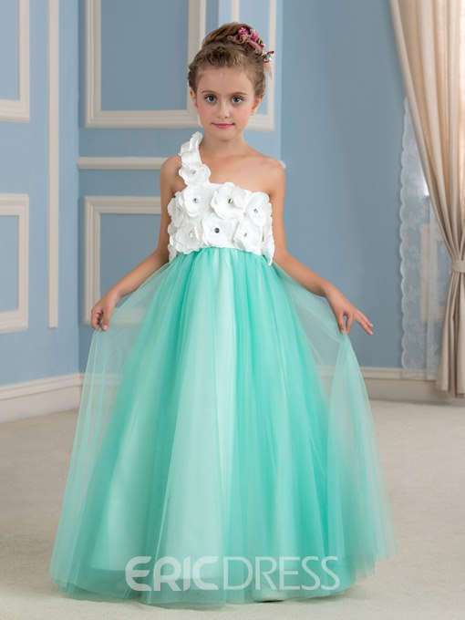 Ericdress Charming One Shoulder A Line Flower Girl Dress