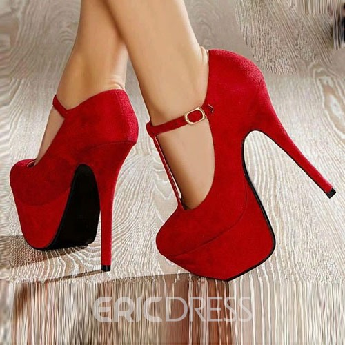 Fashion Suede Solid Color OL Prom Shoes