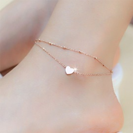Ericdress Double Layer Heart Shape Anklet