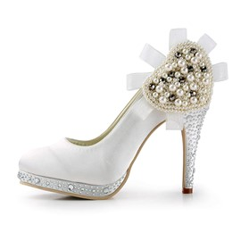 Ericdress Delicate White Wedding Shoes with Rhinestone