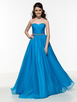 Ericdress Sweetheart Beading Pleats Long Prom Dress