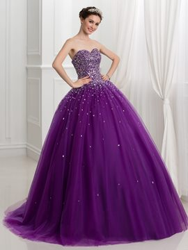 Ericdress Sweetheart Perlen Lace-Up Ball Kleid Quinceanera Kleid
