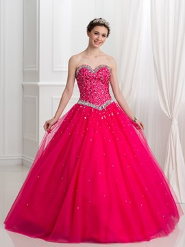 Ericdress Sweetheart Perlen Pailletten Ball Gown Quinceanera Kleid