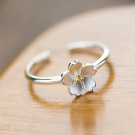 Ericdress Cherry blossom Open Ring
