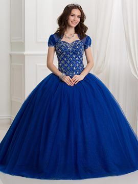 Ericdress Sweetheart perles Lace-Up Ball robe Quinceanera robe avec veste
