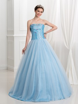 Ericdress Strapless Beading Sequins Ball Gown Quinceanera Dress