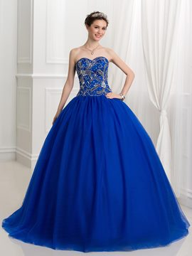 Ericdress Sweetheart perles paillettes Ball robe robe de Quinceanera