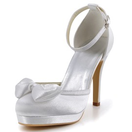Ericdress Ankle Strap Wedding Shoes with Bowtie