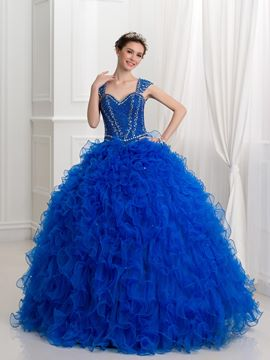 Ericdress Riemen Perlen Pailletten Ball Gown Quinceanera Kleid