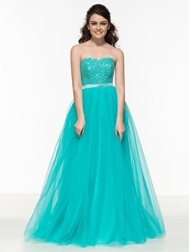 Ericdress A-Line Sweetheart Beading Sashes Prom Dress