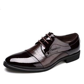 Ericdress Office Croco Patchwork Men's Oxfords