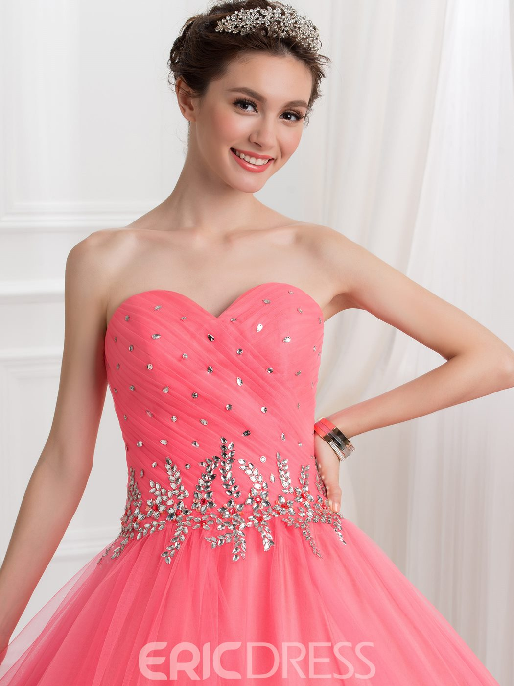 Ericdress Sweetheart Beading Pleats Ball Quinceanera Gown