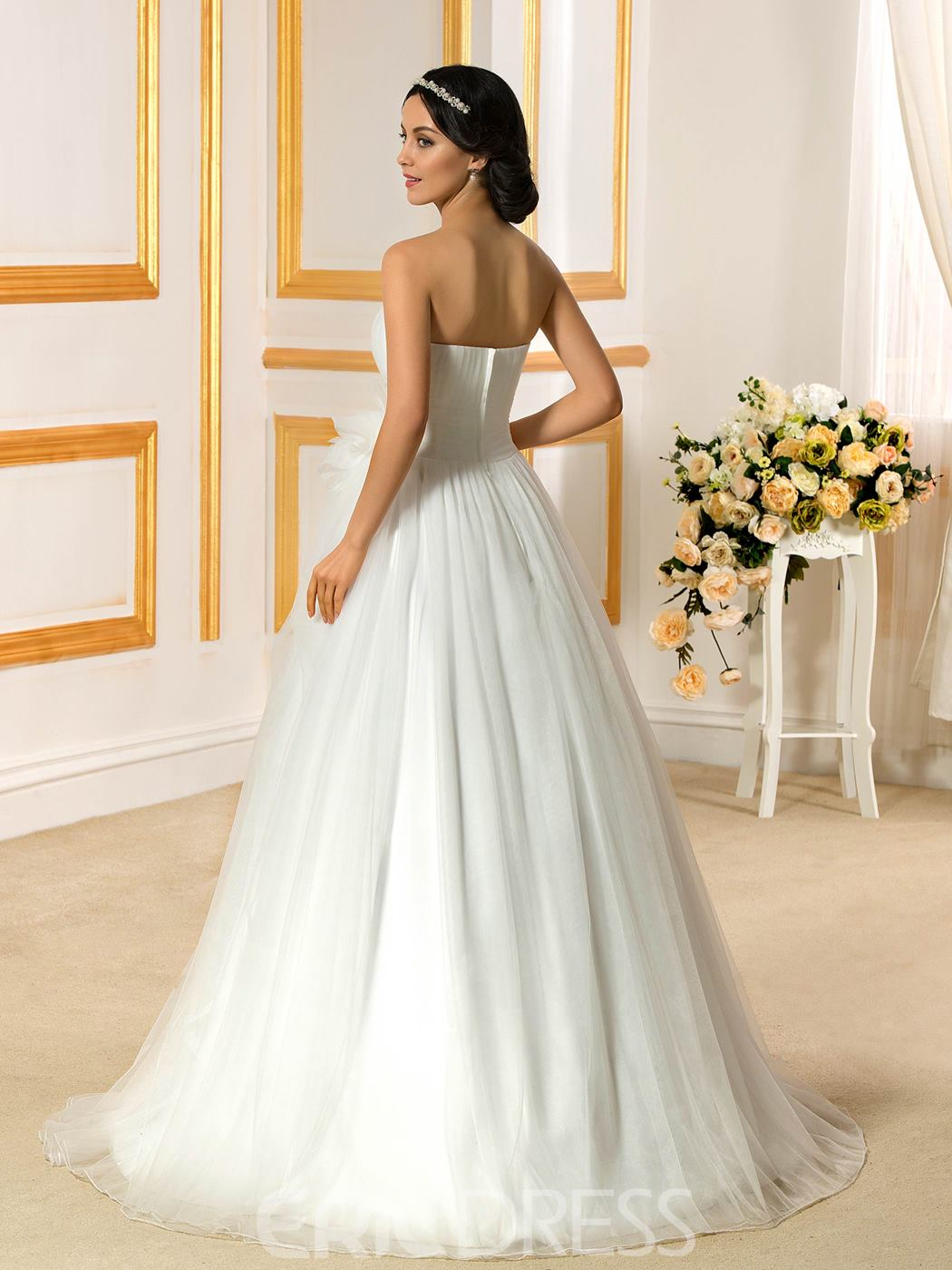 Ericdress Classical Strapless A Line Wedding Dress