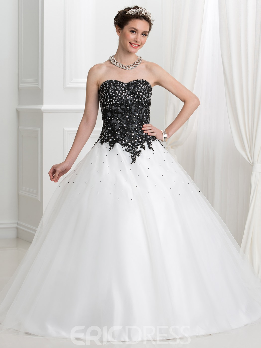 Ericdress Sweetheart Appliques Beading Ball Quinceanera Dress