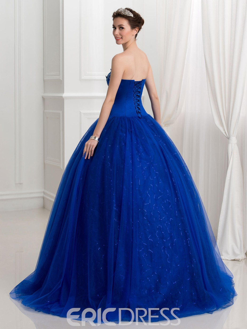 Ericdress Sweetheart Appliques Beading Sequins Ball Gown Quinceanera Dress
