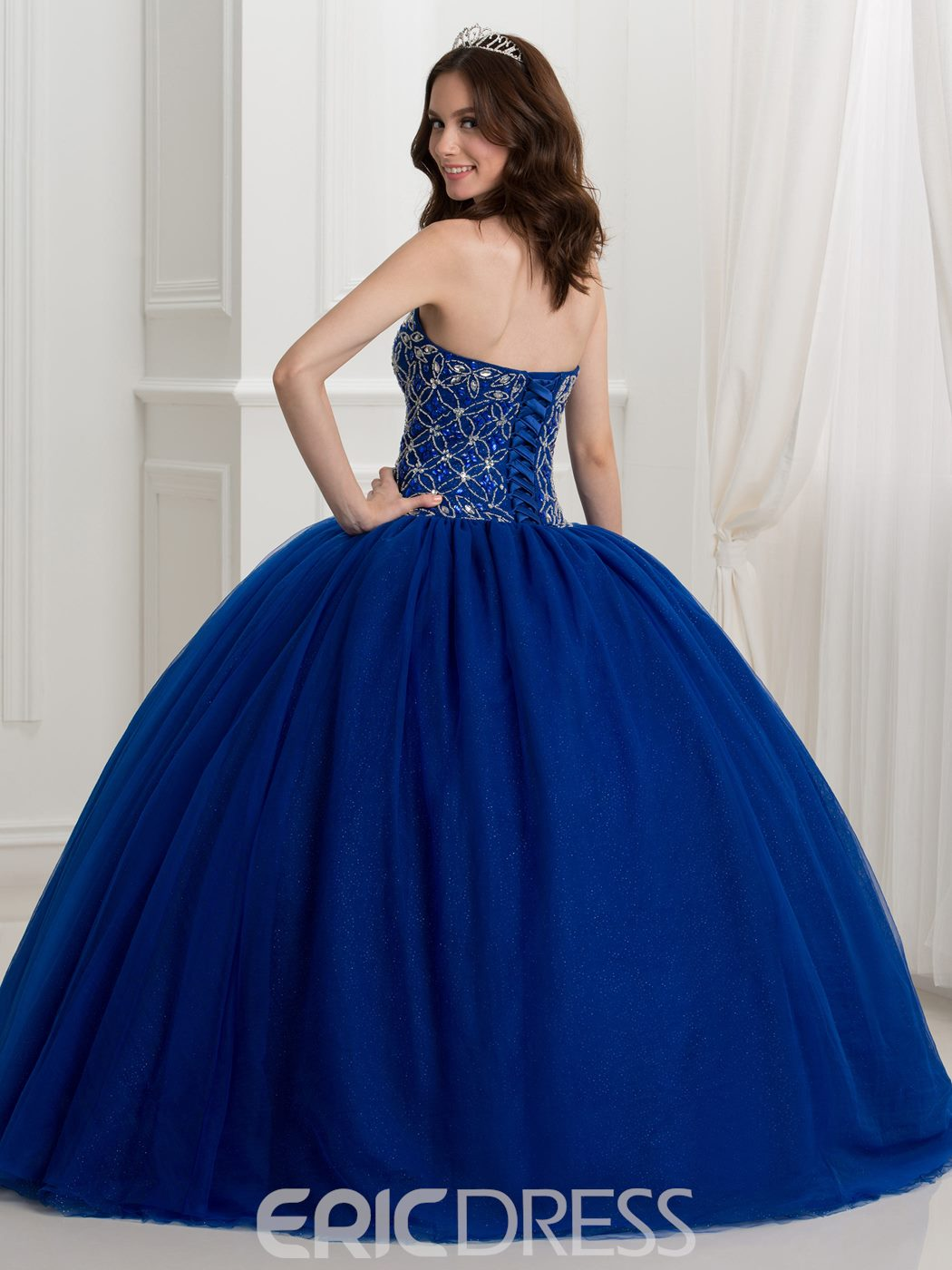 Ericdress Sweetheart Beaded Lace-Up Ball Gown Quinceanera Dress With Jacket