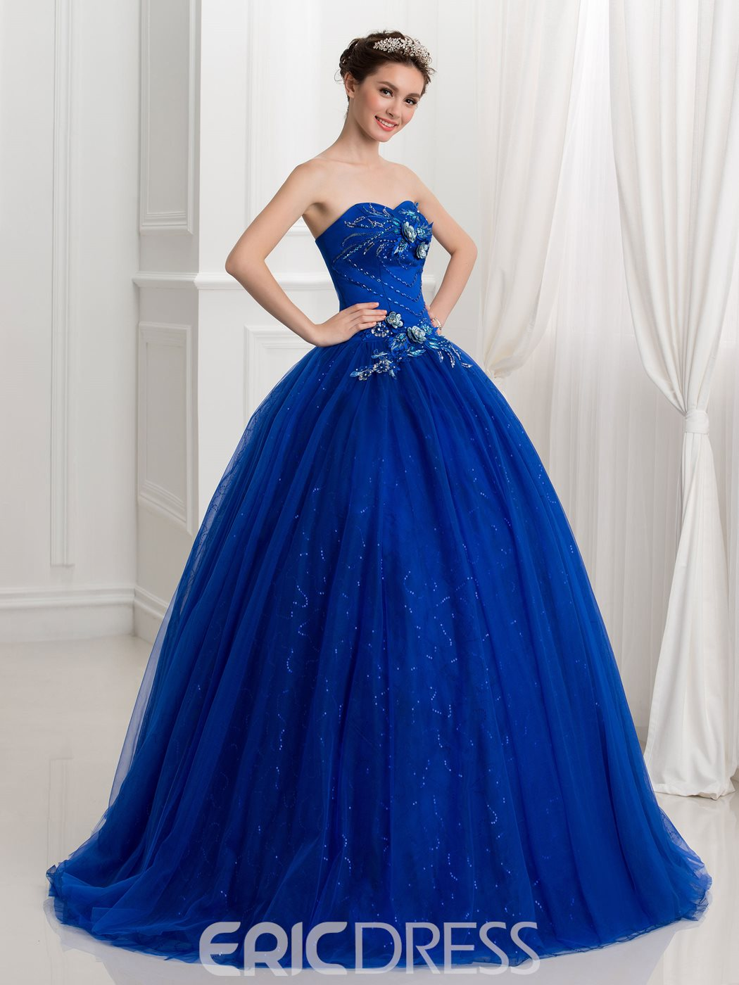 Ericdress Schatz Applikationen Perlen Pailletten Ball Gown Quinceanera Kleid