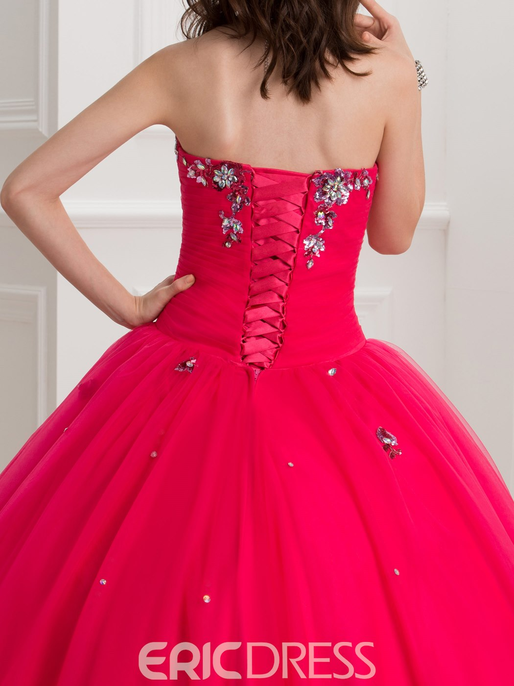Ericdress Sweetheart Sequins Beading Ball Gown Quinceanera Dress