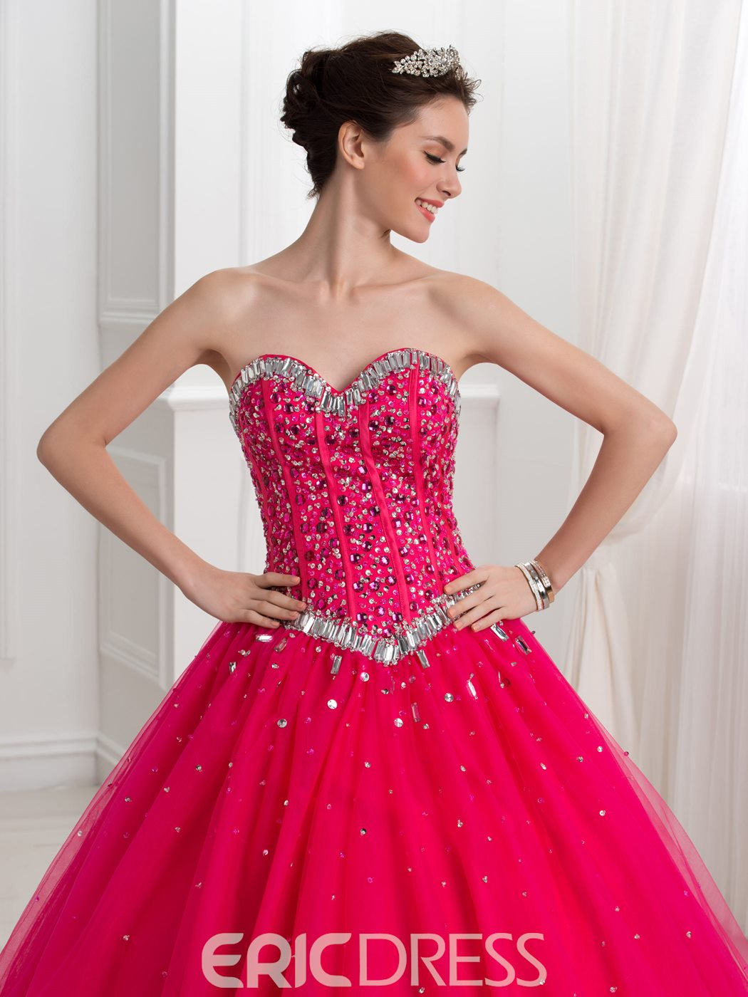 Ericdress Sweetheart Beading Sequins Ball Gown Quinceanera Dress