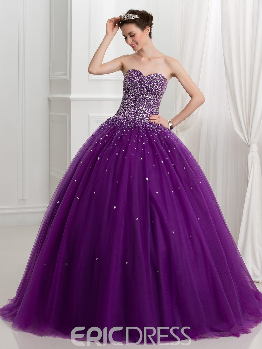 Ericdress Sweetheart Beading Lace Up Ball Gown Quinceanera